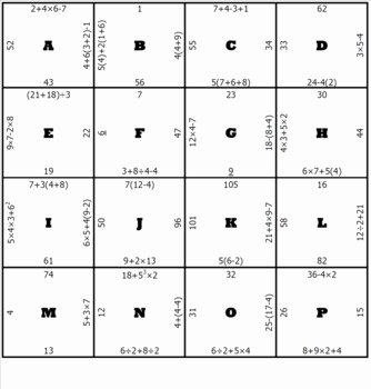 Order Of Operations Puzzle Worksheet Inspirational order Of Operations Middle School Math Puzzle by Michael