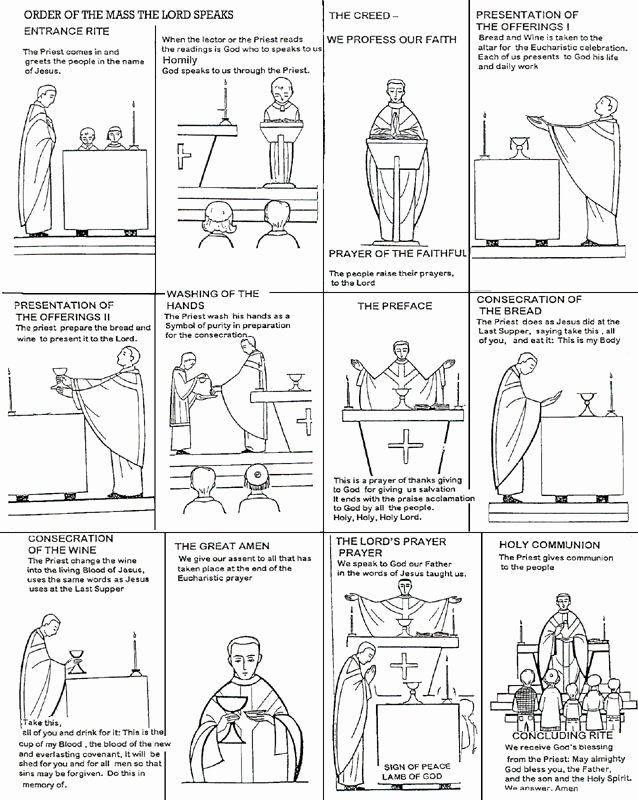 Order Of the Mass Worksheet Awesome Parts Of the Catholic Mass