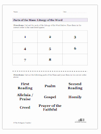 Order Of the Mass Worksheet Awesome the Liturgy Of the Word Lesson Plan