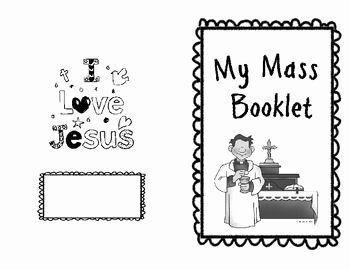 Order Of the Mass Worksheet Fresh Catholic Mass Booklet for Kids with New Responses