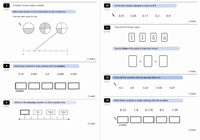 Ordering Fractions and Decimals Worksheet New ordering Fractions and Decimals Worksheet with Answers for