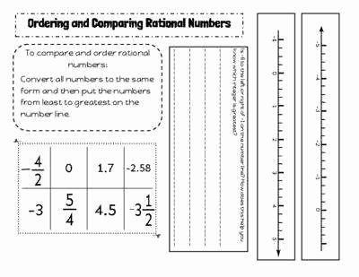Ordering Rational Numbers Worksheet Best Of ordering Rational Numbers Worksheet
