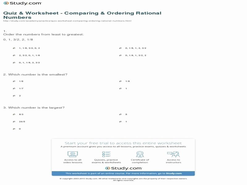 Ordering Rational Numbers Worksheet Lovely solubility Rules Chem Worksheet 15 1 Answers Free