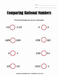Ordering Rational Numbers Worksheet Unique Sixth Grade Worksheets Giggletimetoys