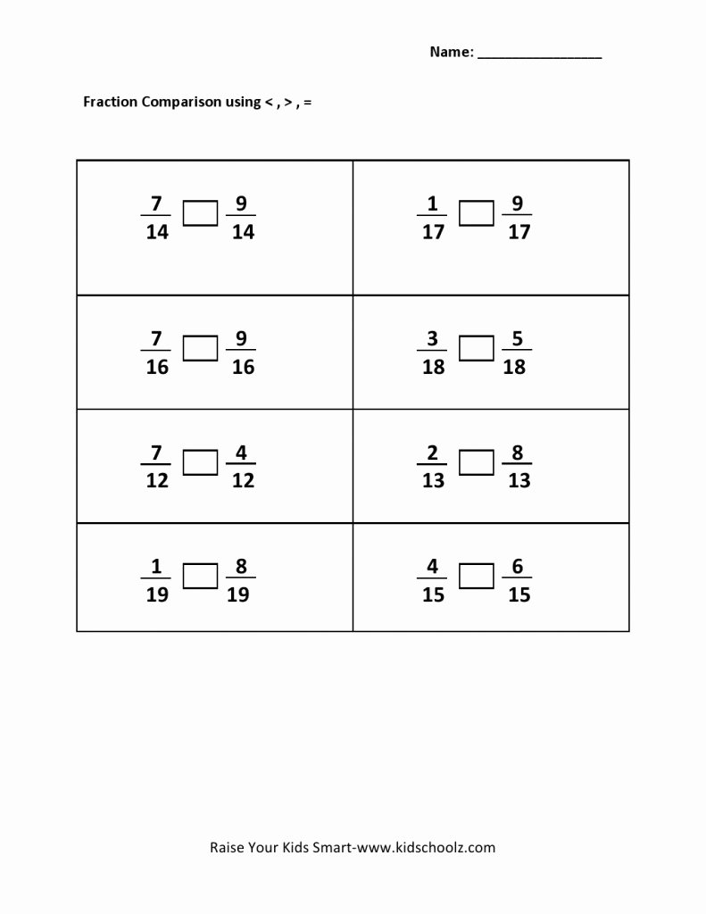 Ordering Real Numbers Worksheet Best Of Paring and ordering Fractions Worksheet Worksheet