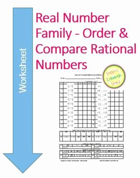 Ordering Real Numbers Worksheet Fresh Real Numbers order and Pare Rational & Irrational