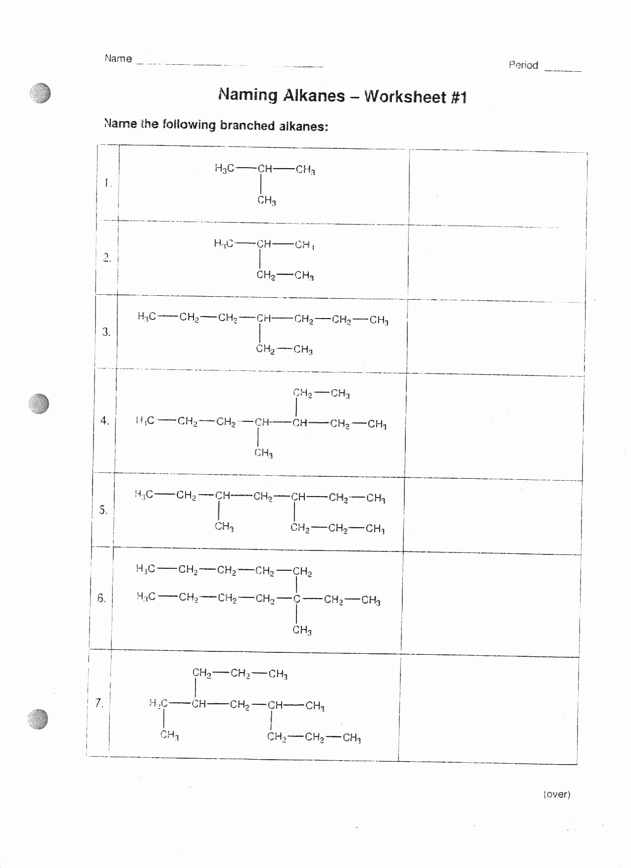 Organic Chemistry Worksheet with Answers Inspirational Chemistry Ib Mr Phelps Big Rapids Hs