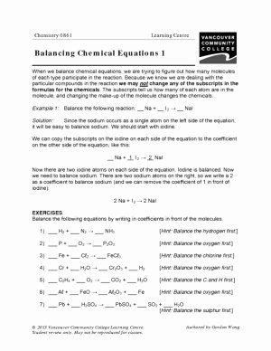 Organic Chemistry Worksheet with Answers New organic Pounds Student Worksheet Answer Key Example