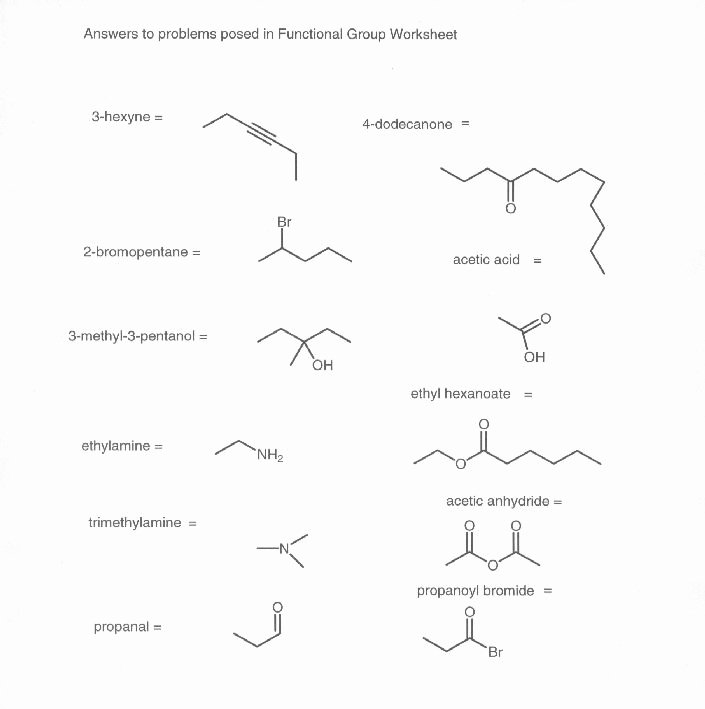 Organic Chemistry Worksheet with Answers Unique 15 Best Of Naming Functional Groups Practice