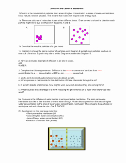 Osmosis and tonicity Worksheet Awesome Diffusion and Osmosis Worksheet Answers