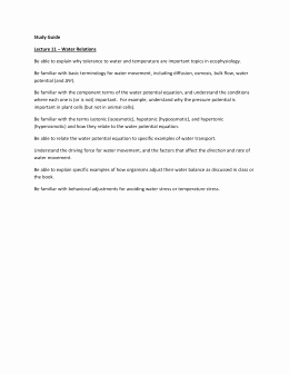 Osmosis and tonicity Worksheet Awesome Osmosis and tonicity Worksheet