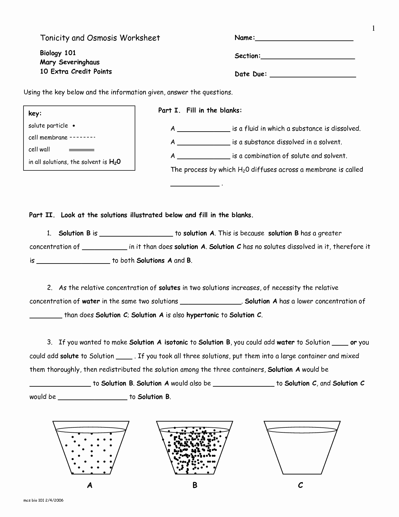 Osmosis and tonicity Worksheet Best Of 13 Best Of Diffusion Worksheet Key Osmosis and