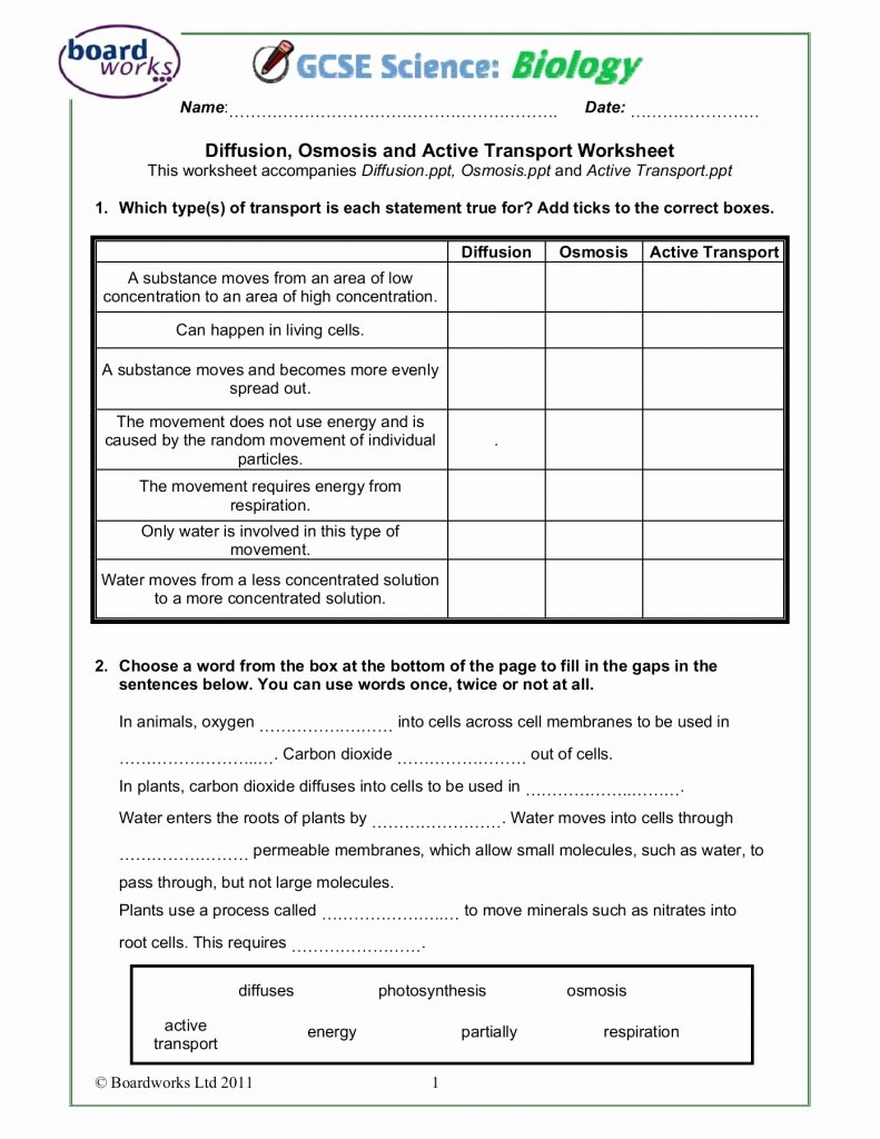 Osmosis and tonicity Worksheet Lovely Worksheet Osmosis and tonicity Coloring Pages Learny Kids