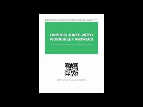 Osmosis Jones Video Worksheet Answers Elegant Osmosis Jones Worksheet