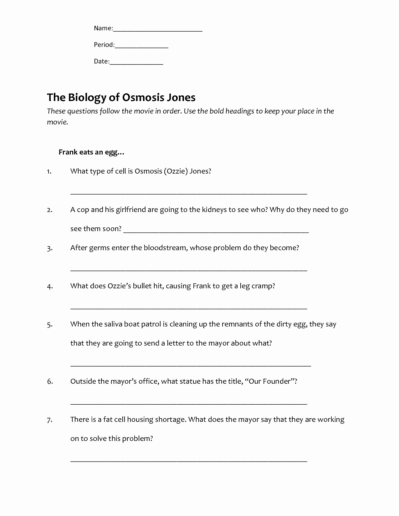 Osmosis Jones Video Worksheet Answers Inspirational 48 tonicity and Osmosis Worksheet 85 Nacl Record the