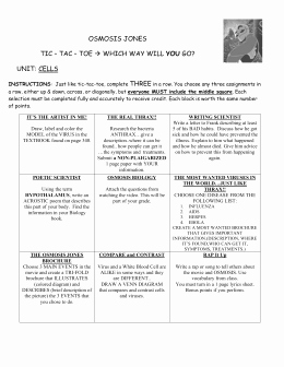 Osmosis Jones Video Worksheet Answers Lovely Osmosis Jones Video Worksheet
