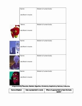 Osmosis Jones Worksheet Answer Key Unique Osmosis Jones Movie Worksheet by Michelle Prei