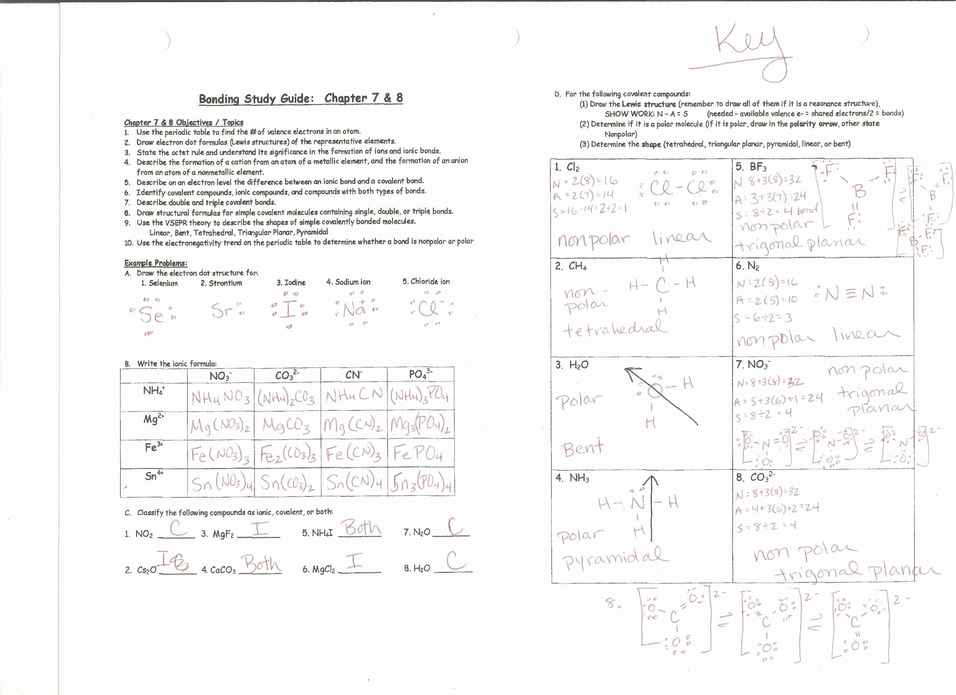 Overview Chemical Bonds Worksheet Answers Awesome Chemical Bonding Review Worksheet Answers