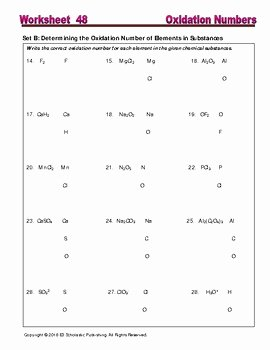 Oxidation and Reduction Worksheet Awesome Redox Oxidation and Reduction Worksheets & Practice