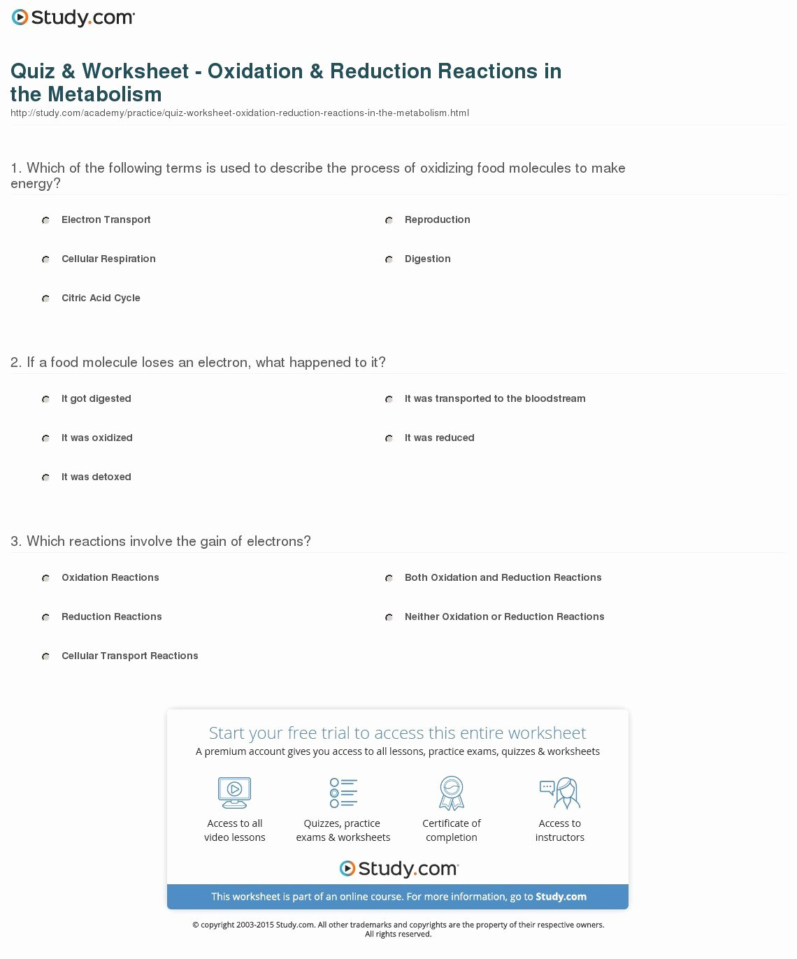 Oxidation Reduction Worksheet Answers Best Of Redox Reactions Practice Worksheet with Answers