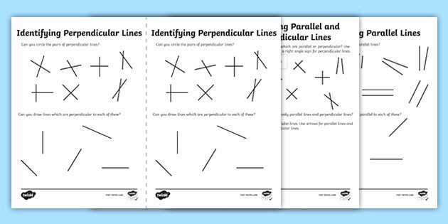 Parallel and Perpendicular Lines Worksheet Best Of Identifying Parallel and Perpendicular Lines Worksheet