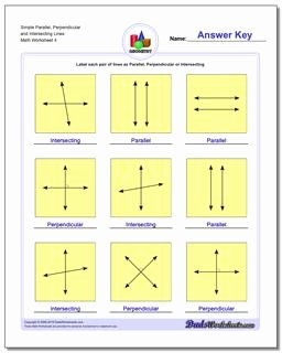Parallel and Perpendicular Lines Worksheet Best Of Parallel Perpendicular Intersecting