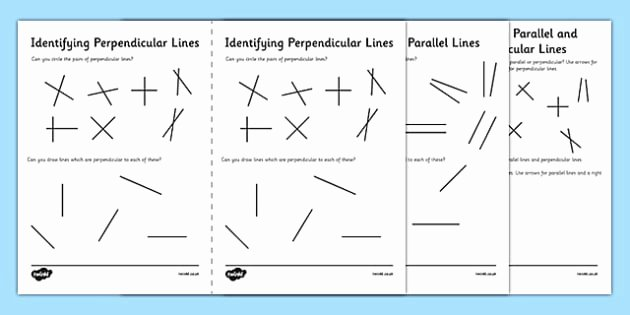 Parallel and Perpendicular Lines Worksheet Fresh Identifying Parallel and Perpendicular Lines Worksheet