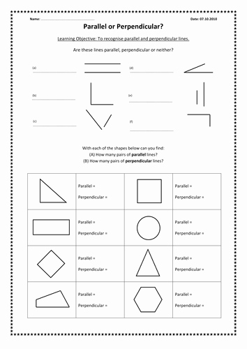 Parallel and Perpendicular Lines Worksheet Fresh Parallel and Perpendicular Lines by Kimberley Lloyd