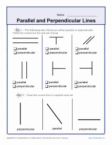 Parallel and Perpendicular Lines Worksheet New Worksheets On Pinterest