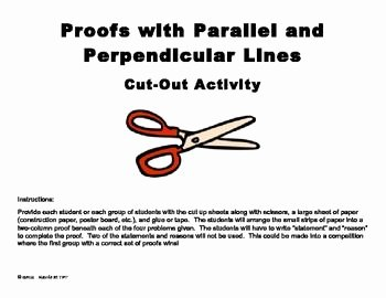 Parallel Lines Proofs Worksheet Answers Best Of Parallel and Perpendicular Lines Proofs Cut and Paste