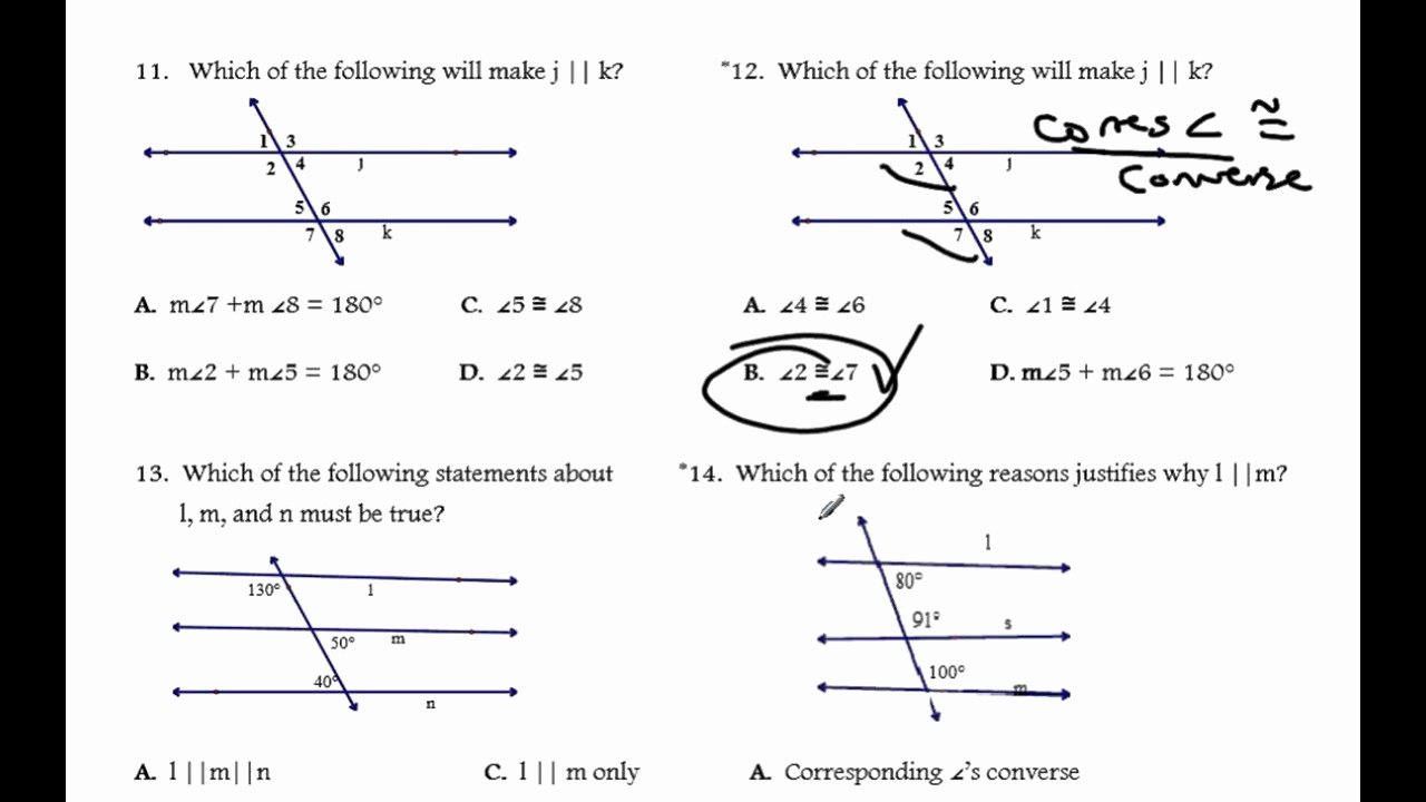 Parallel Lines Proofs Worksheet Answers Best Of Proving Lines Parallel Worksheet solutions