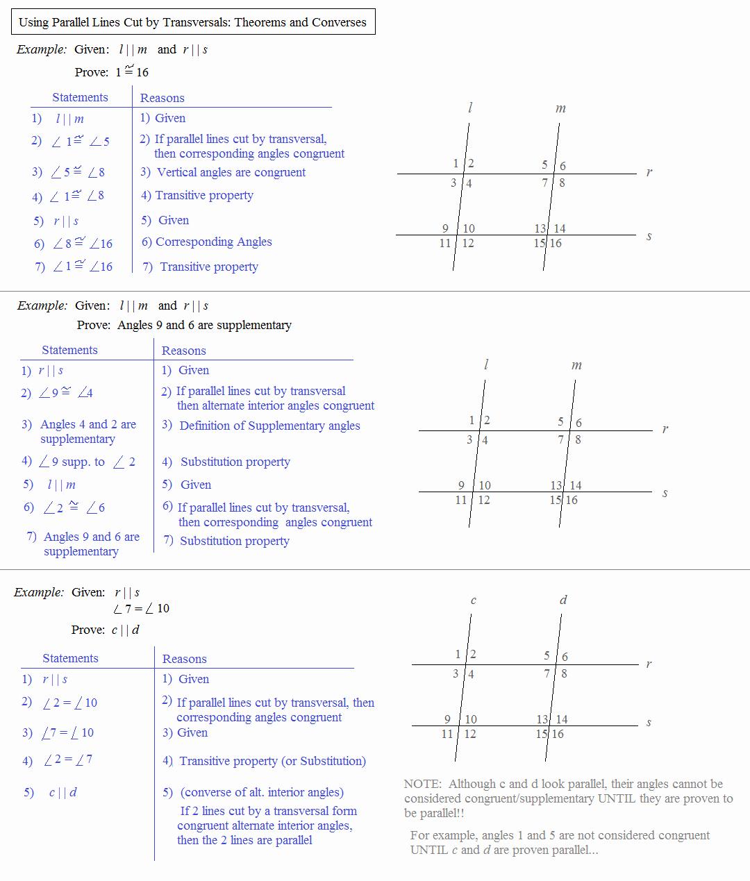 Parallel Lines Transversal Worksheet Awesome Math Plane Parallel Lines Cut by Transversals