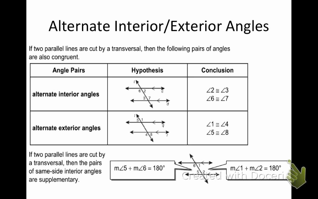 Parallel Lines Transversal Worksheet Awesome Section 3 2 Angles formed by Parallel Lines and