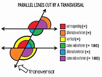 Parallel Lines Transversal Worksheet Best Of Parallel Lines Cut by A Transversal Poster and Coloring