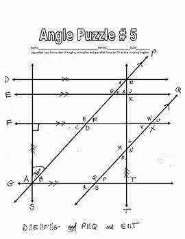 Parallel Lines Transversal Worksheet Fresh Parallel Lines Cut by A Transversal Printable Missing