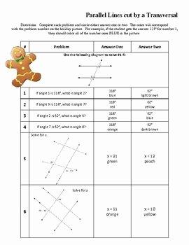 Parallel Lines Transversal Worksheet Luxury 1000 Images About Parallel Lines and Transversals On