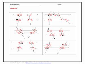 Parallel Lines Transversal Worksheet Luxury Parallel Lines and Transversal Wroksheet Worksheet for