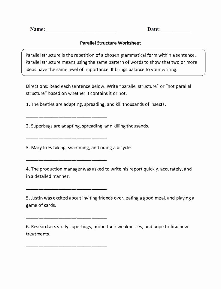 Parallel Structure Worksheet with Answers Luxury 4017 Best Images About Englishlinx Board On Pinterest