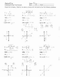 Parent Function Worksheet Answers Awesome 8 Best Of Algebra with Pizzazz Worksheets Pdf
