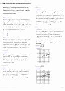 Parent Function Worksheet Answers Elegant 1 5 Parent Functions and Transformations Worksheet with