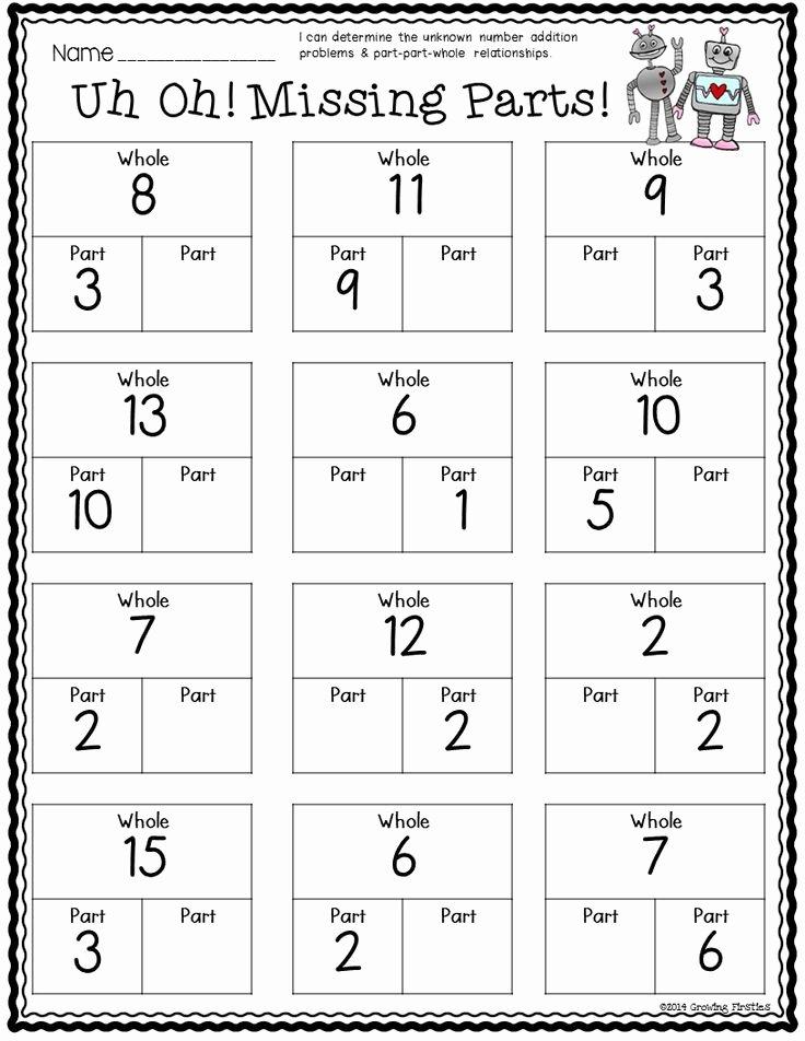 Part Part whole Worksheet Beautiful Part Part whole – Number Bonds