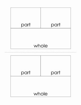 Part Part whole Worksheet Beautiful Part Part whole Worksheet Set by First Grade Fanatics