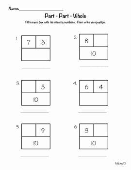 Part Part whole Worksheet Luxury 1000 Images About Math Part Part whole On Pinterest
