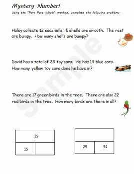 Part Part whole Worksheet New Part Part whole Worksheet Packet by Jimmy D