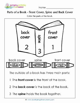 Parts Of A Book Worksheet Awesome Parts Of A Book Worksheets & Vocabulary Cards by A