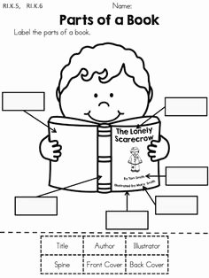 Parts Of A Book Worksheet Beautiful 1000 Ideas About Kindergarten Library Lessons On