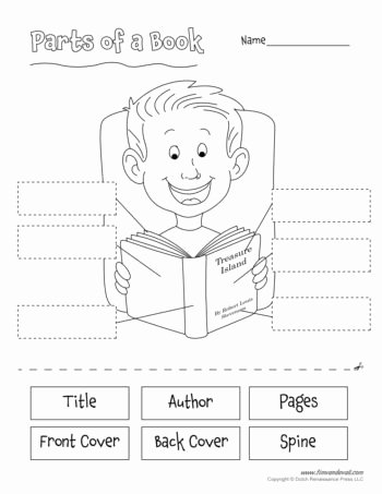 Parts Of A Book Worksheet Beautiful Parts Of A Book Worksheet Tim S Printables