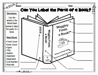 Parts Of A Book Worksheet Best Of Labeling the Parts Of A Book Lessons by Sandy