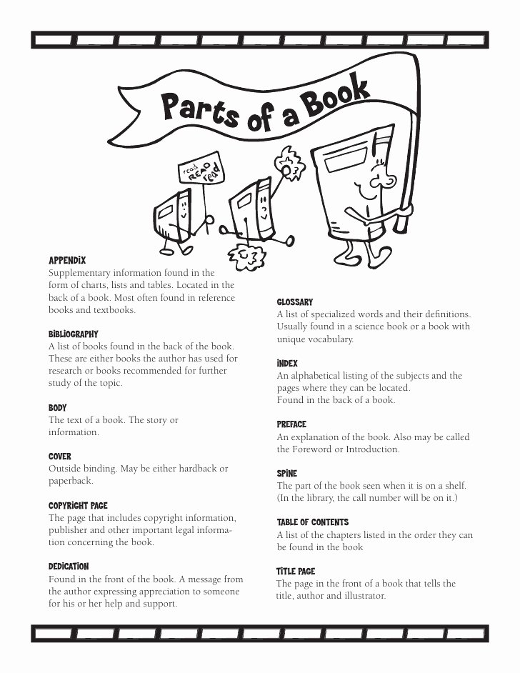 Parts Of A Book Worksheet Best Of Parts A Book