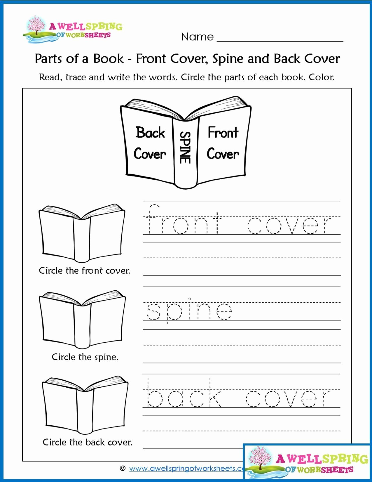 Parts Of A Book Worksheet Best Of Worksheets by Subject Concepts Of Print